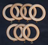 Wooden Drapery Pole Rings for 1-1/4