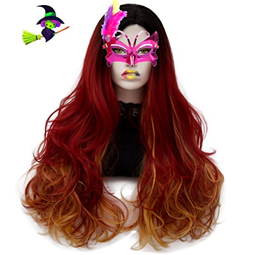 Long Cosplay Wigs Curly Heat Resistant Spiral Costume Wigs Anime Fashion Wavy Daily Party 30