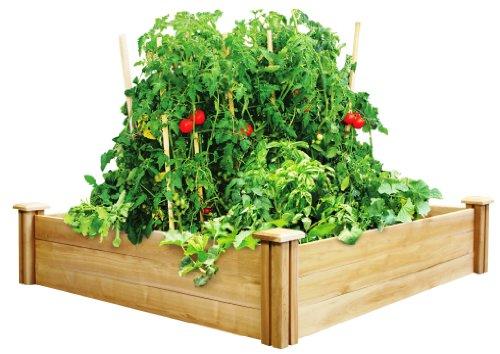 Greenes 4 Ft. X 4 Ft. X 10.5 In. Cedar Raised Garden Bed