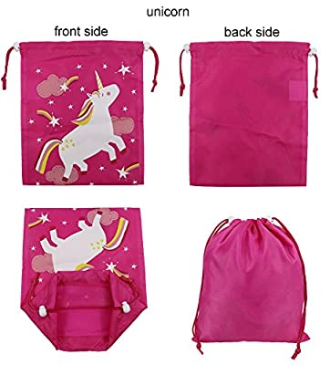 Drawstring Bags Party Favors for Kids Unicorn Design, Arts & Crafts Activity 10 Pack by BeeGreen Bags Ltd