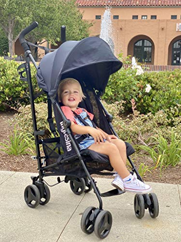 517rqzIyw L - Inglesina Net Stroller - Lightweight Summer Travel Stroller - UPF 50+ Protection Canopy With Removable And Washable Seat Pad {Black}