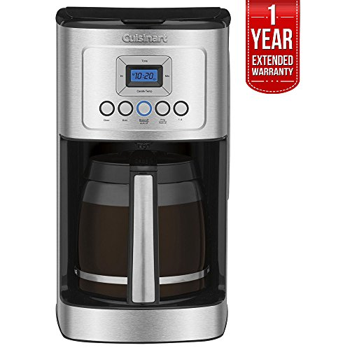 Cuisinart Perfect Temp 14-Cup Programmable Coffeemaker Stainless Steel (DCC-3200) with 1 Year Extended Warranty