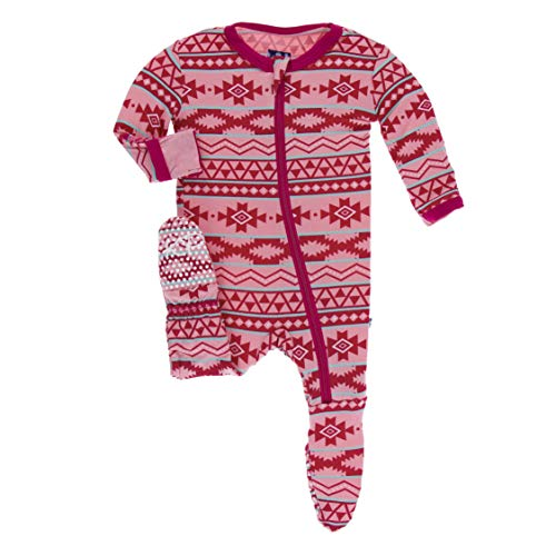Kickee Pants Print Footie with Zipper (Strawberry Mayan Pattern - 18-24 Months) ()