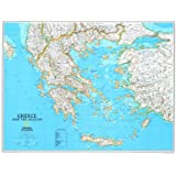 Map of Greece Poster Print, 79x61 cm