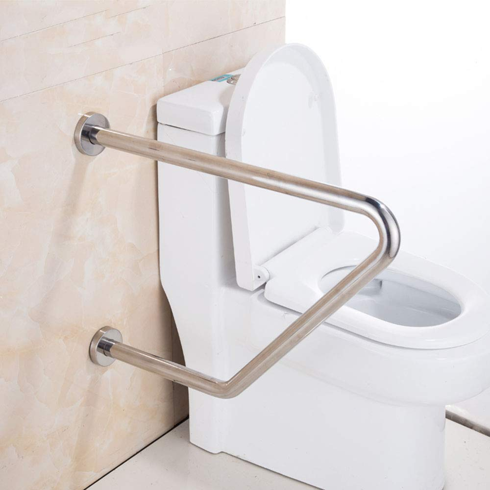 304 Stainless Steel Toilet Anti-Skid Railing, Bathroom Toilet Safe and Barrier-Free Handrail, Suitable for The Elderly, Pregnant Women, Etc. by Bathroom supplies