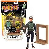 Mattel Year 2006 Shonen Jump's Naruto Series 5 Inch Tall Action Figure - SHURIKEN ATTACK IRUKA UMINO with Realistic Shuriken Throw Action Plus Shuriken Star and Board Target