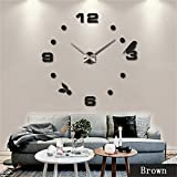 Netmetoo DIY 3D Wall Clock Modern Large Home Decor Sticker Frameless Black Mirror For Office Living Room Bedroom Kitchen Bar Number Birdie Clock Plate For Sale