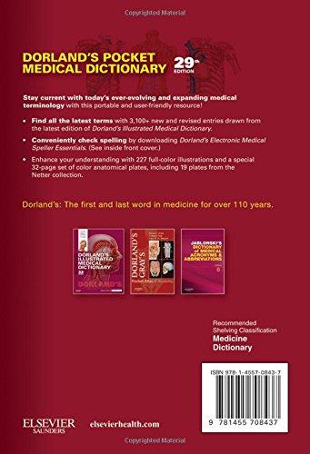 Dorland's Pocket Medical Dictionary, 29e (Dorland's Medical Dictionary)