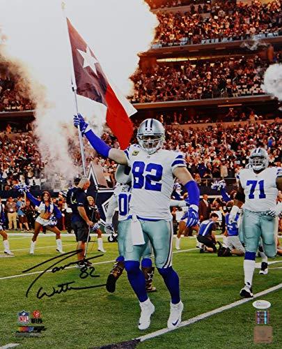 Jason Witten Photograph - Jason Witten Autographed Dallas Cowboys 16x20 with Flag Photo- JSA W Auth Black