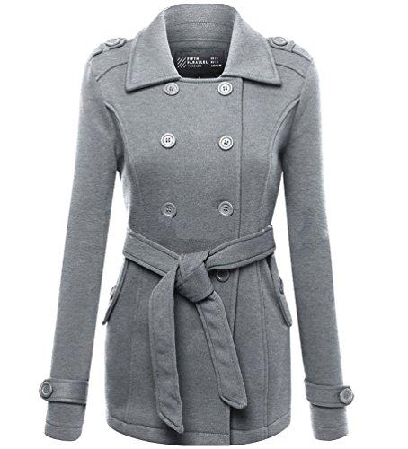Veste Manche Femmes Veste Polaire Manteau Coat Hiver Chaud Gris Neuf Long Femmes WanYang Longue Capuche Trench Uni Pour Manteau 8wEg7nxO