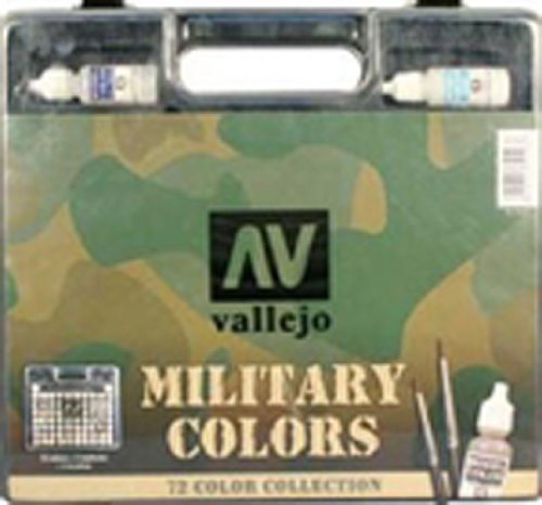 Model Color - 72 Military Colors Set in Plastic Case