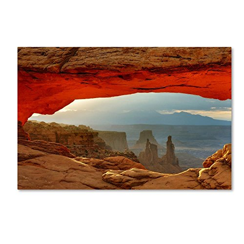 Canyonlands Mesa Arch by Mike Jones Photo, 12x19-Inch Canvas Wall Art