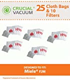 25 Miele Type FJM Premium Allergen Filtration Canister Vacuum Cleaner Bags + 5