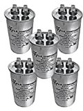 RUN CAPACITOR 45 MFD 370 VAC ROUND CAN. UL Certified. Pack of (5)