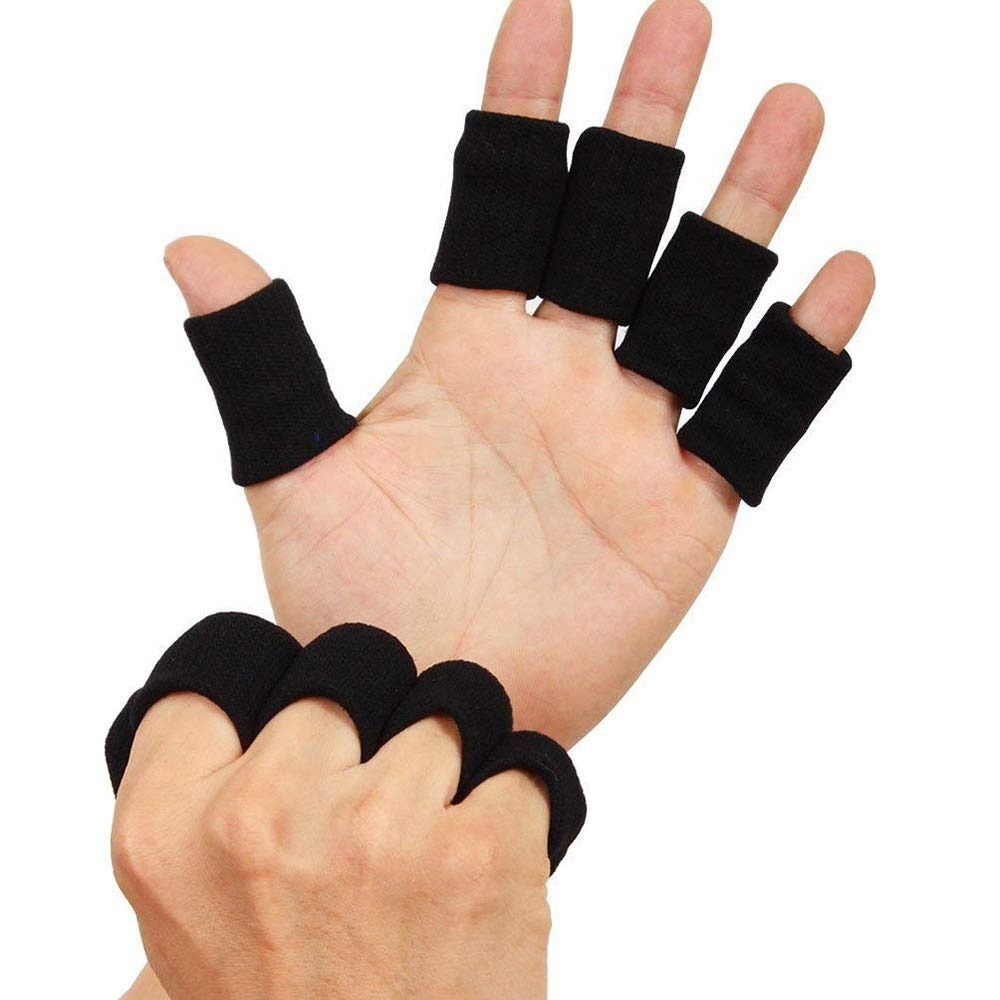 Tcplyn 10PCS Anti-Slip Sports Finger Cover Thumb Protector Sleeve Elastic Arthritis Finger Braces Sports Aid for Basketball Tennis etc by Tcplyn (Image #6)