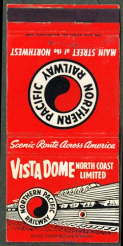 Pacific Vista Dome - Northern Pacific Vista Dome N Coast Limited matchcover