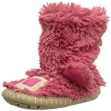 Hatley Girls 2-6x Pink Bear Kids Slouch Slipper, Just Kissed, M(8-10)