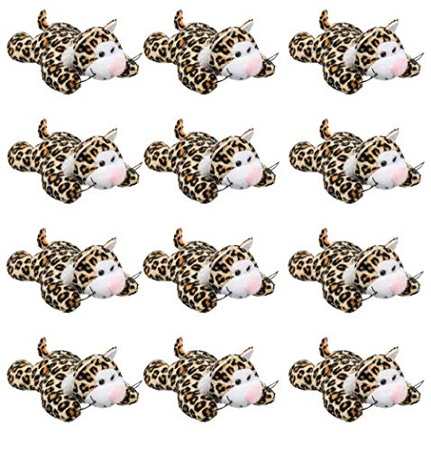 Wildlife Tree (12 Pack) Cheetah Mini 4 Inch Small Stuffed Animals,