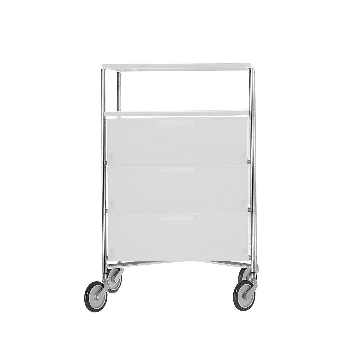 Kartell 2020L1 Container Mobil, 4 Schubladen, eisfarben
