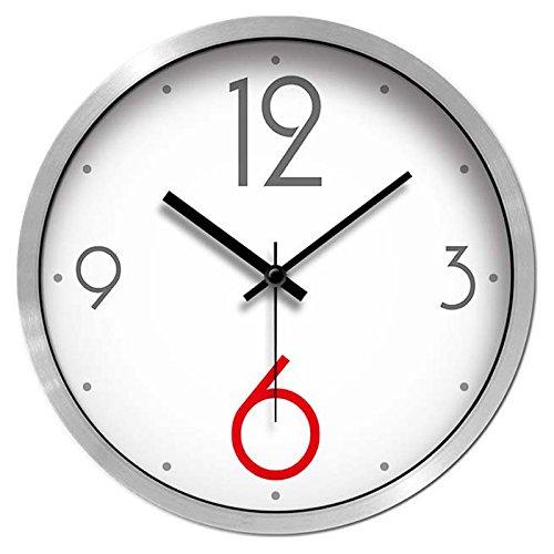ウォールクロックリビングルームクリエイティブベッドルームミュートモダンファッションシンプルな時計クォーツ時計フリップチャート (色 : シルバー しるば゜, サイズ さいず : 12インチ) B07DV77RGM 12インチ シルバー しるば゜ シルバー しるば゜ 12インチ