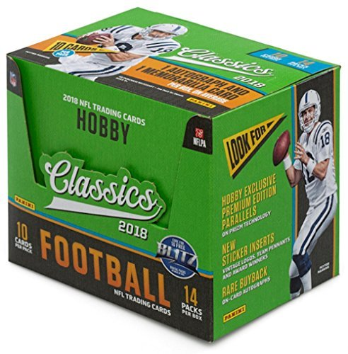 Legends Hobby Box - 2018 Panini Classics NFL Football HOBBY box 14 pack box