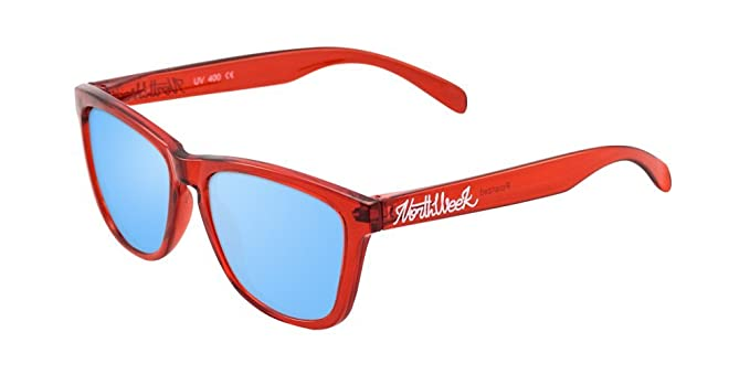 NORTHWEEK Creative, Gafas de Sol Unisex, Bright Red/Ice Blue, 52