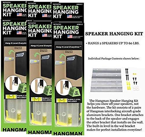 Hangman 6in. Bar Speaker Hanging Kit ASM6-2 6 Pack
