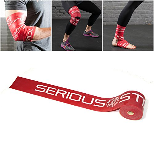 Serious Steel Mobility & Recovery (Floss) Bands |Compression Band | Tack & Flossing Band (7 L x 2 W)Quick Start e-Guide INCLUDED (Red)