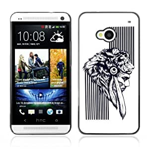 Designer Depo Hard Protection Case for HTC One M7 / Native American Warrior