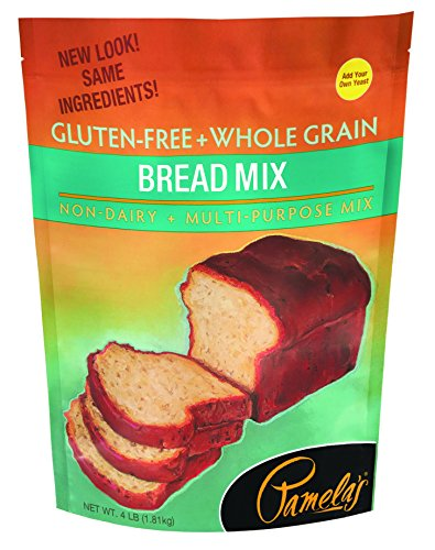 Pamela's Products Gluten-free Bread Mix, 4-Pound Bags (Pack of 3) (No Flour Wheat)
