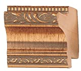 Picture Frame Moulding (Wood) 18ft bundle - Traditional Antique Gold Finish - 2'' width - 1/2'' rabbet depth