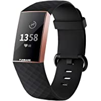 FunBand voor Fitbit Charge 3 / Charge 4 Band, Classic Edition Soft Silicone Sport Verstelbare vervangende…