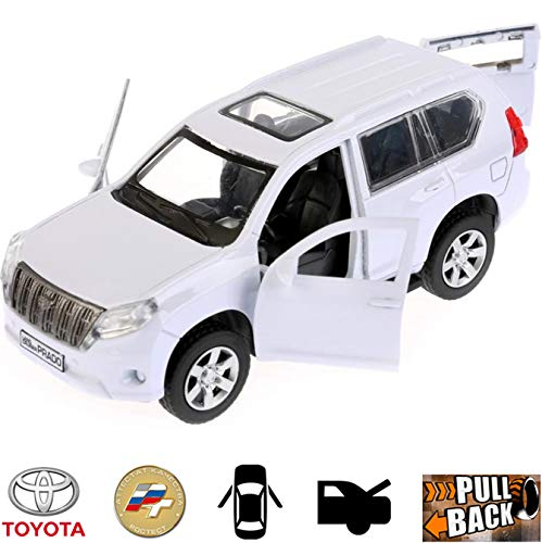 Diecast Metal Model Car Toyota Land Cruiser Prado White Full-Size SUV Toy Die-cast Cars (The Best Land Cruiser Model)