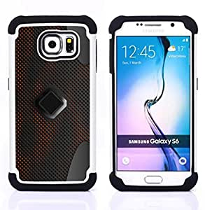 BullDog Case - FOR/Samsung Galaxy S6 G9200 / - / Abstract Pattern /- H??brido Heavy Duty caja del tel??fono protector din??mico - silicona suave