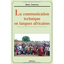 La Communication Technique En Langues Africaines