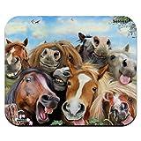 Horses Selfie Low Profile Thin Mouse Pad Mousepad