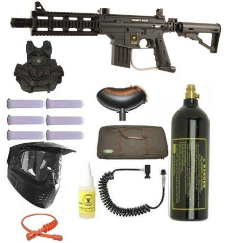 US Army Project Salvo Paintball Marker Gun 3Skull Vest Sniper Set
