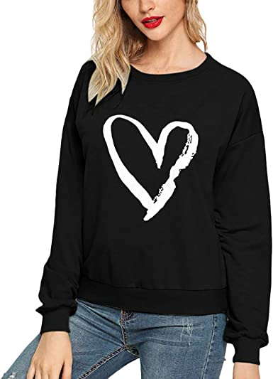 Pandaie Womens Pullover Plus Size Loose Casual Long Sleeve T-Shirt Floral Print Round Neck Pullover Top Sweater
