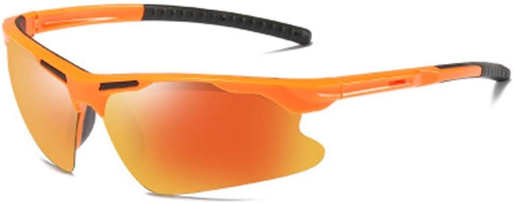 YWYU Moda polarizada Gafas de Sol Deportivas, 8527 Gafas de montañismo al Aire Libre, Lentes TAC Resistentes a la radiación, protección UV400 Gafas de Sol antideslizamiento para tormentas de Arena