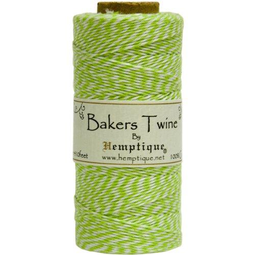 Hemptique Baker's Twine Spool 50-Gram, Lime