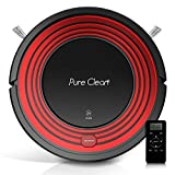 Automatic Programmable Robot Vacuum Cleaner - Robotic Auto Home Cleaning for Clean Carpet Hardwood Floor w/Self Activation and Charge Dock - HEPA Pet Hair & Allergies Friendly - PureClean PUCRC95