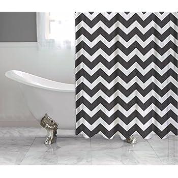 Amazon.com: Red Black And White Chevron - Shower Curtain Custom ...