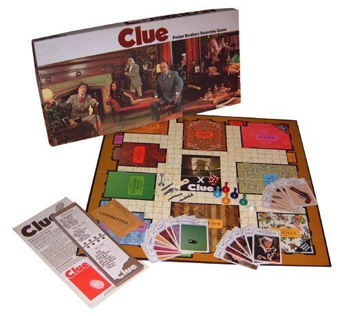 Clue Parker Brothers Detective Game 1972 by Parker Brothers