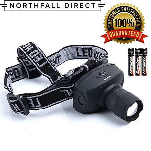 LED Headlamp by Northfall Direct - Ultra-Bright Flashlight for Camping, Hiking, Running, Safety and