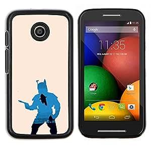 Caucho caso de Shell duro de la cubierta de accesorios de protección BY RAYDREAMMM - Motorola Moto E - Bobba Fett Hunter