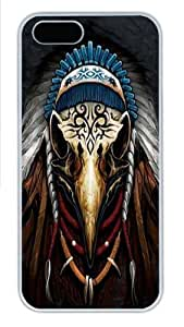 Eagle Spirit Chief PC Case Cover for iPhone 5 and iPhone 5s White