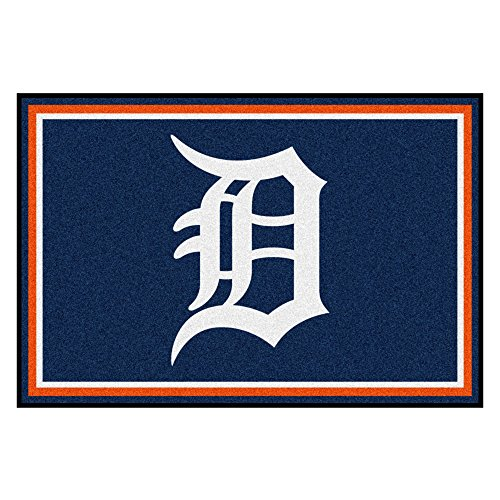 - FANMATS MLB Detroit Tigers Nylon Face 5X8 Plush Rug