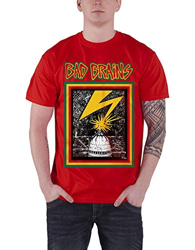 Bad Brains T Shirt Capitol Band Logo Punk Official Mens Red