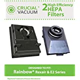 2 Washable & Reusable HEPA Filters Fit Rainbow E2-Series Vacuums; Compare to Rainbow Part Nos. R12179, R12647B; Designed & Engineered by Think Crucial