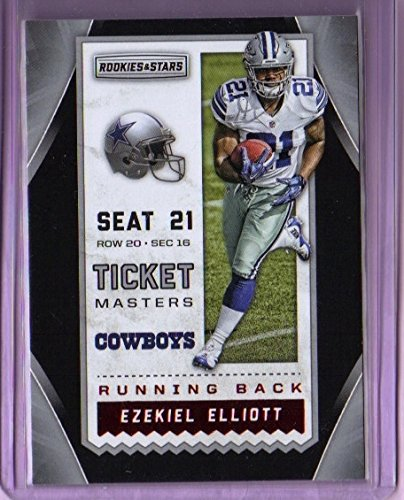 2016-rookies-and-stars-ticket-masters-red-foil-3-ezekiel-elliott-rookie-year-dallas-cowboys